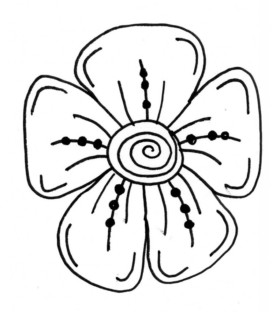915x1024 Cool Drawing Designs Of Flowers Flowers Drawing For Kid Cool
