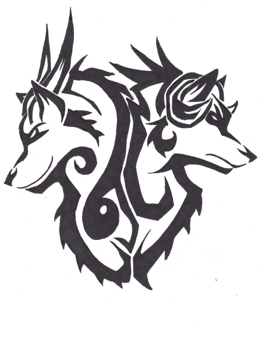 900x1157 Rage And Despair Tribal Tattoo Design By Wolfhappy
