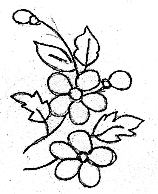 1105x1360 Cool Simple Drawings Of Flowers