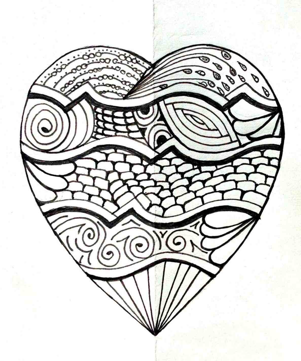 1187x1425 Cool Simple Drawings Of Hearts