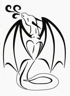 236x322 Simple Line Drawing Of A Dragon