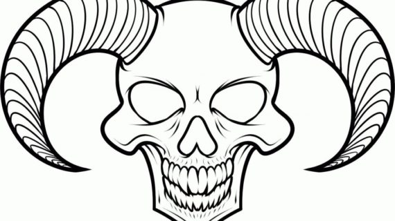 570x320 Easy Skulls To Draw How An Cool Skull Step