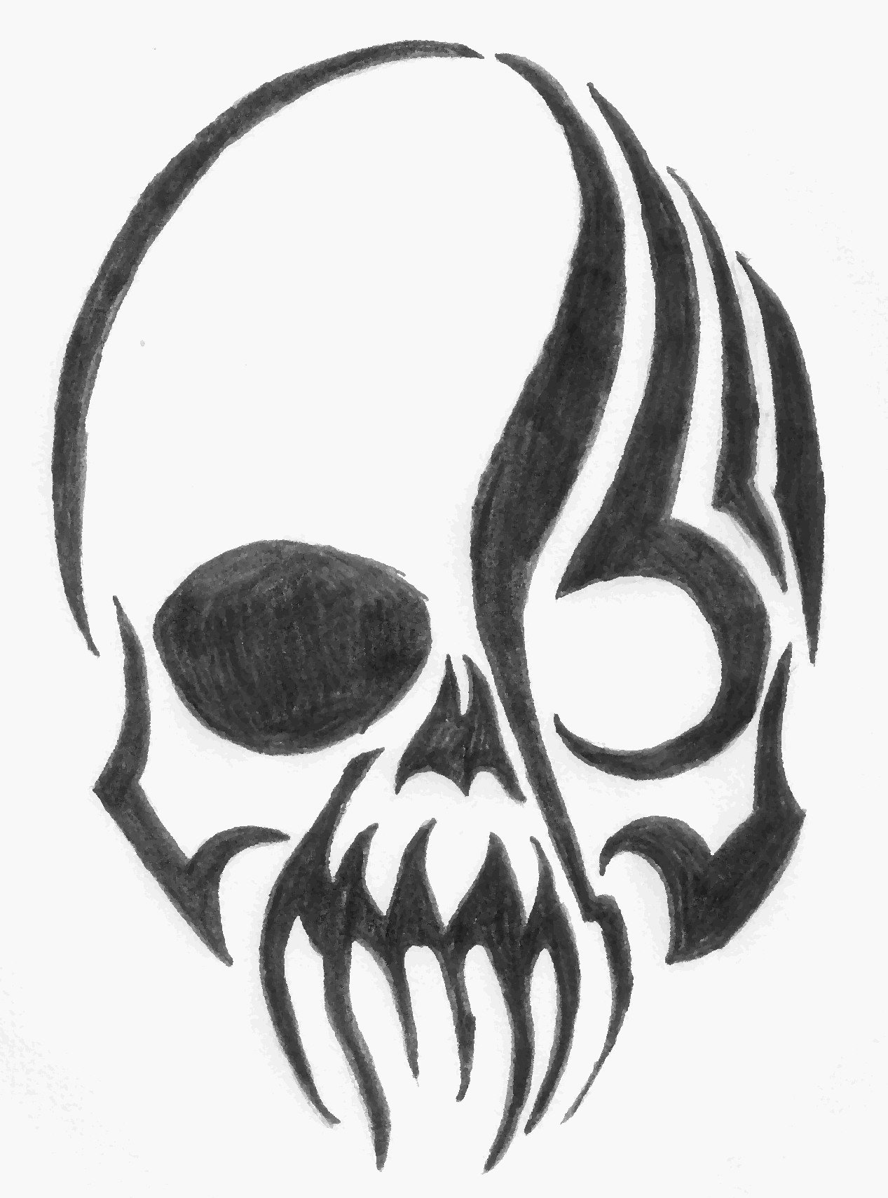1267x1708 Tribal Skull By XXbytemeXx On DeviantArt