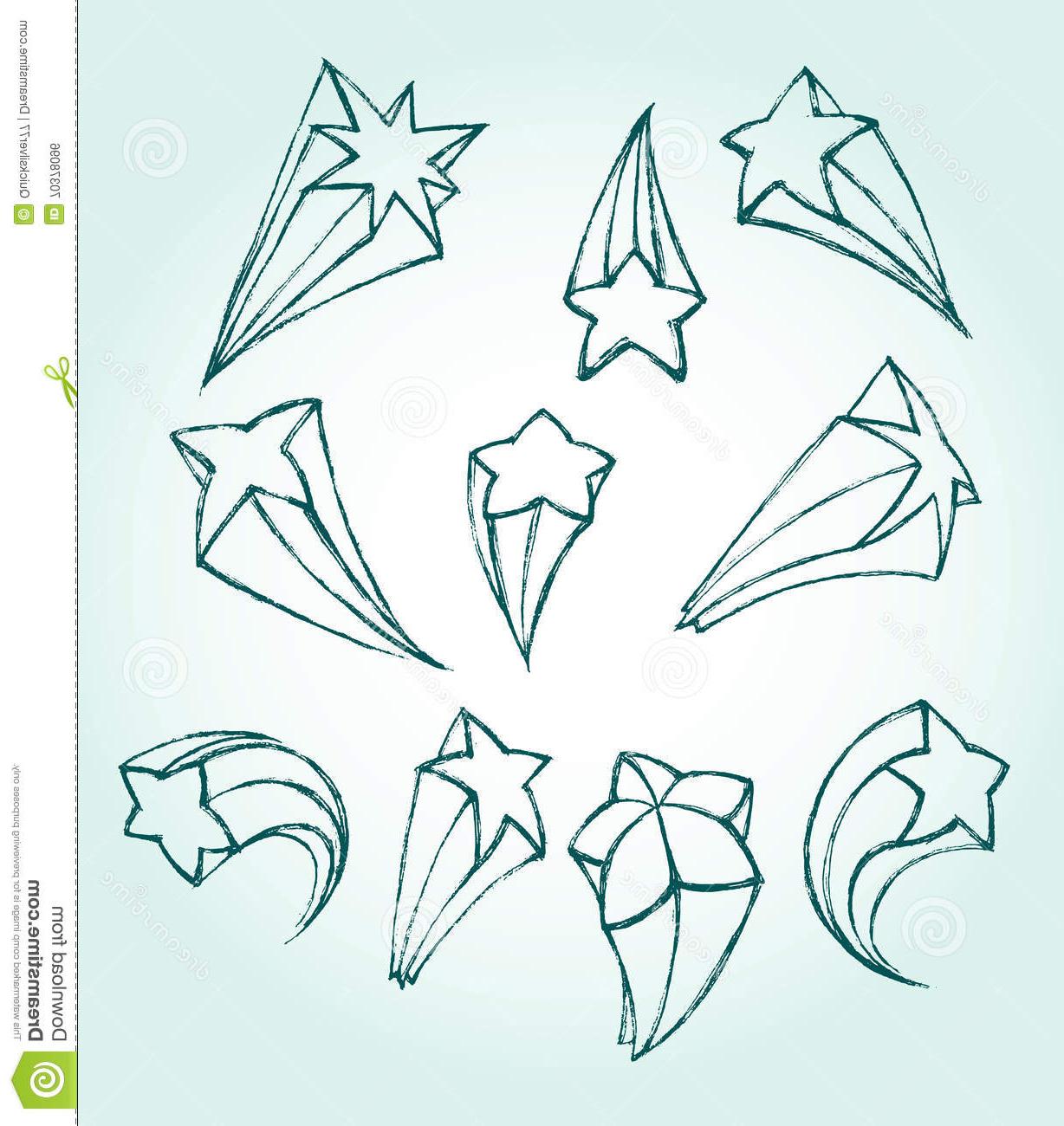 1228x1300 Cool Shooting Star Drawings 3d 3d Star Sketch Stock Vector