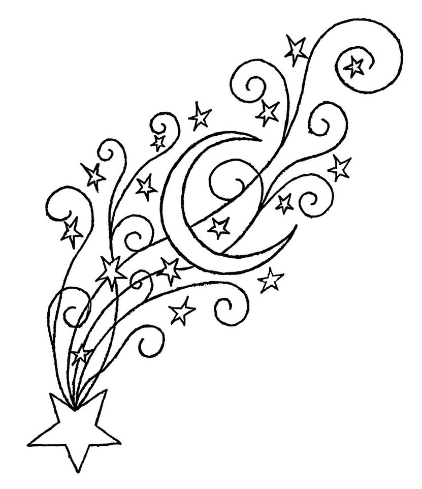 831x962 Cool Shooting Star Drawings 3d Shooting Star Art Free Download