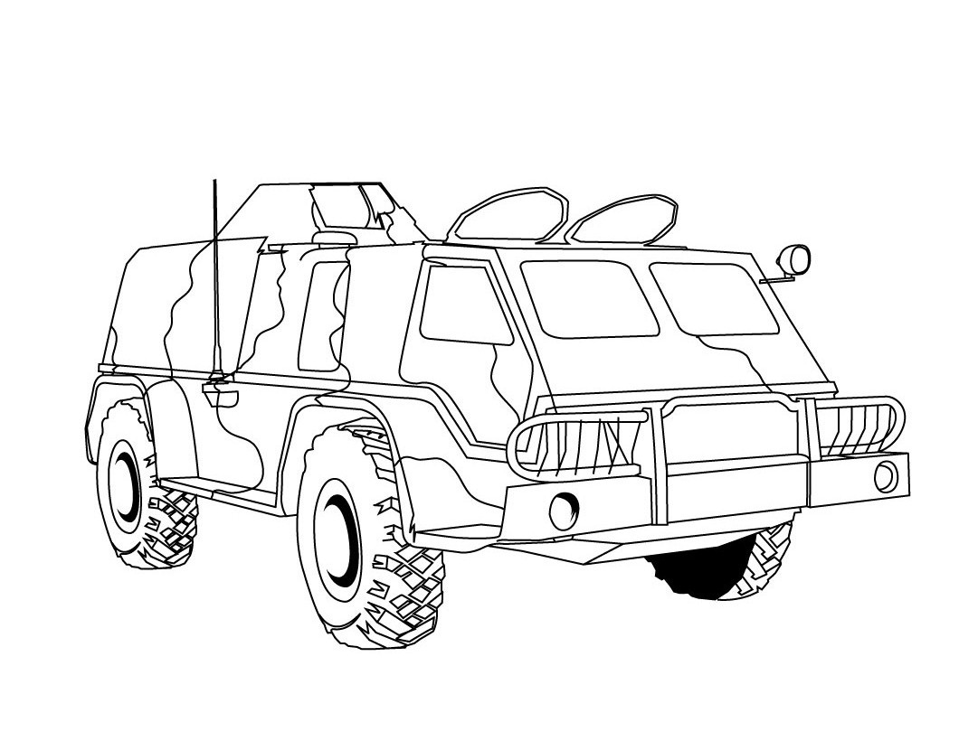1060x820 Cool Army Truck Coloring Pages Have On With HD