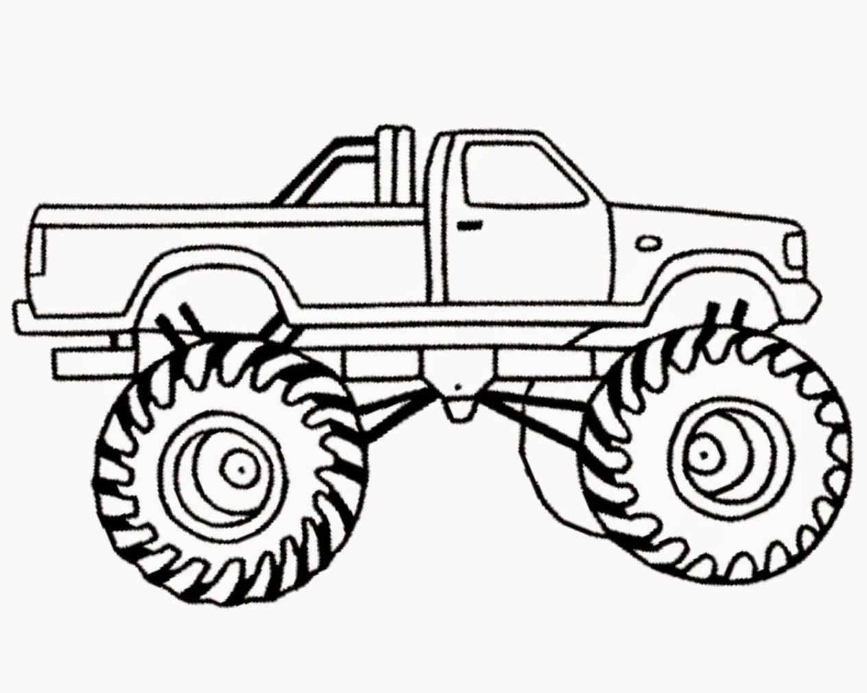 1264x1011 Cool Idea Coloring Pages Draw A Monster Truck