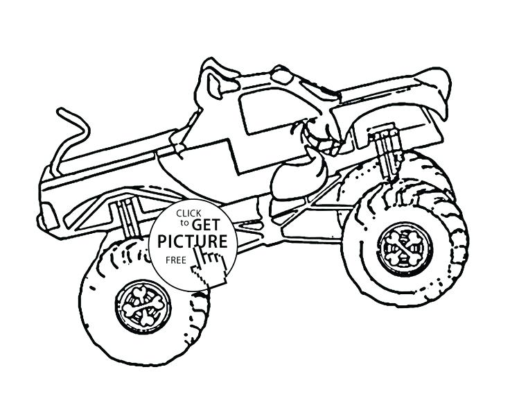 736x588 Monster Truck Pictures To Color Cool Monster Truck Coloring Pages