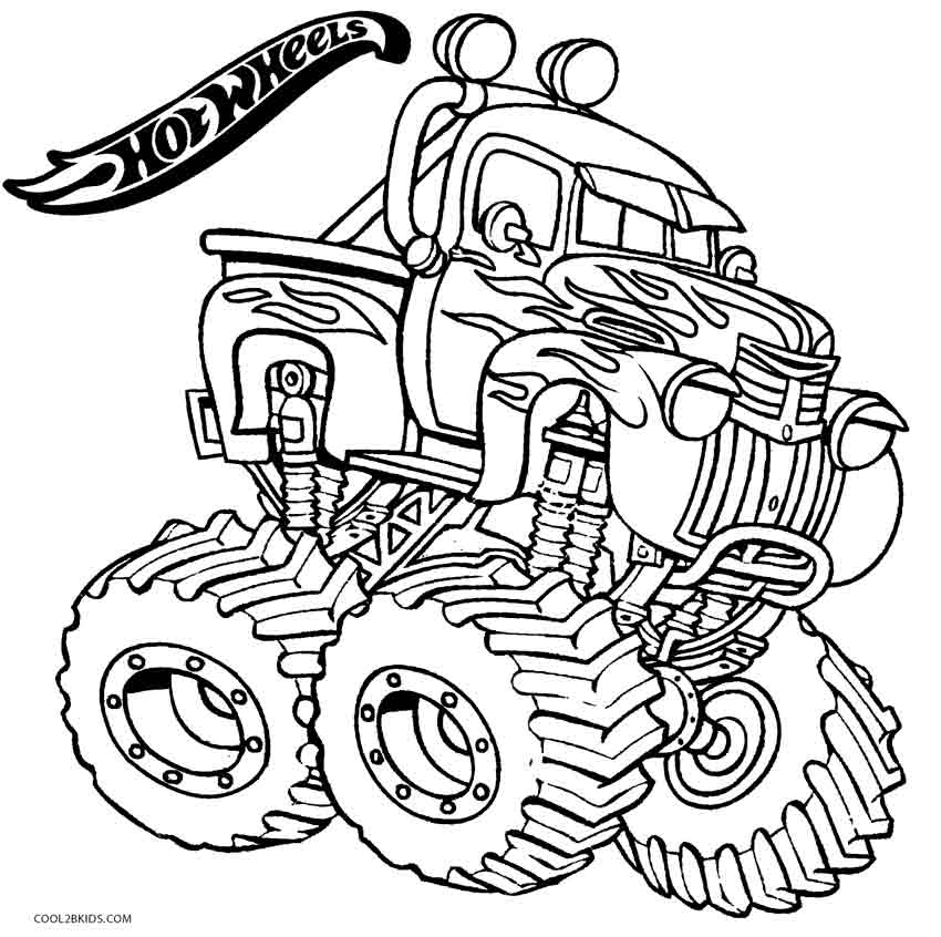 850x846 Printable Hot Wheels Coloring Pages For Kids Cool2bkids