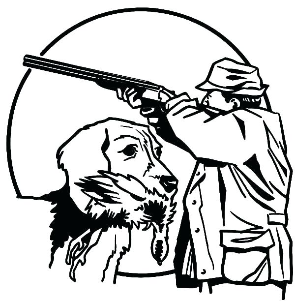 600x612 Hunting Coloring Pages Drawing And Colouring Pig Hunting Coloring