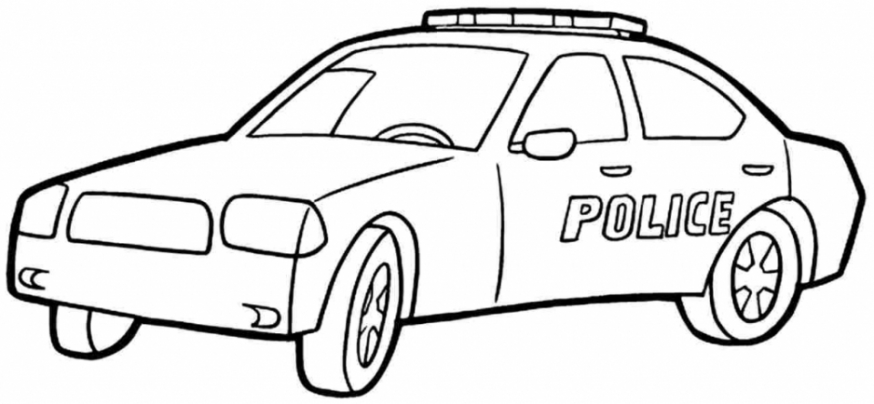 Cop Car Drawing