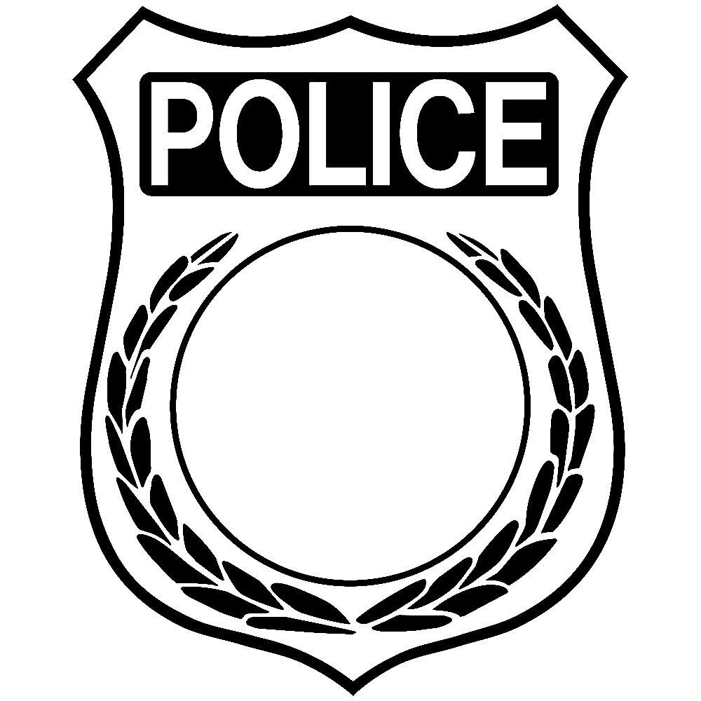 1000x1000 How To Draw A Police Badge Group