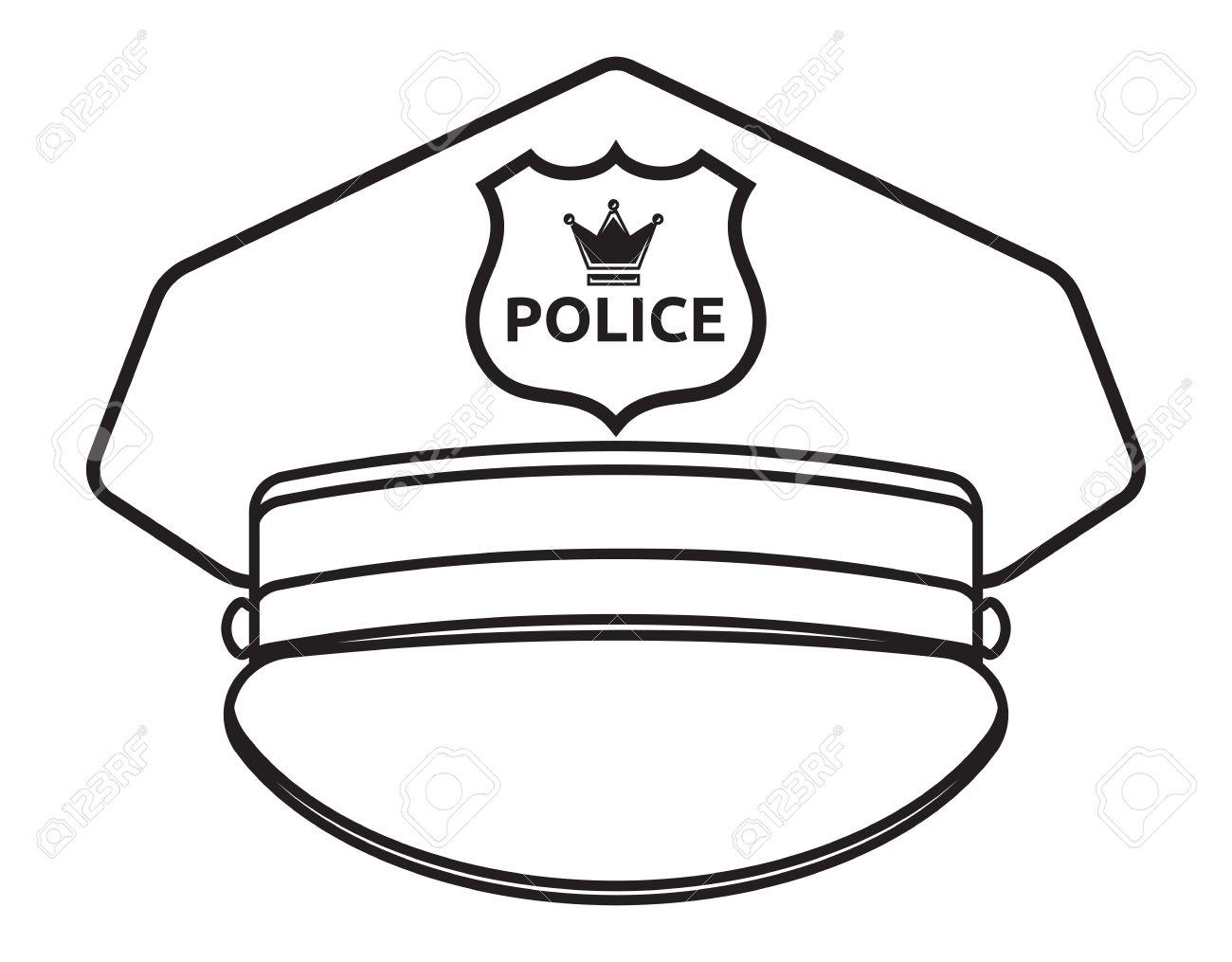 1300x1015 Police Cap Vector Illustration Royalty Free Cliparts, Vectors,