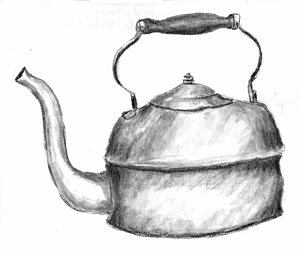 300x255 Copper Pot Drawing By Kevin Callahan