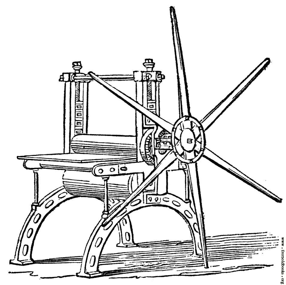 955x954 Copper Plate, Or Rolling Press.