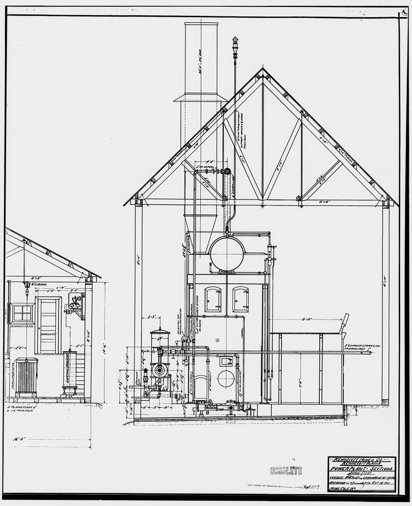 835x1024 File35. Photocopy Of Drawing Of Power Plant, Section, Oct. 12