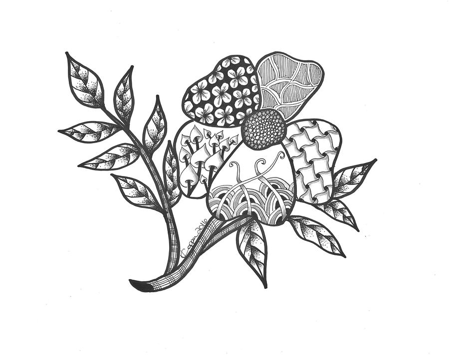 900x712 Zen Sitka Rose Drawing By Valerie Copper