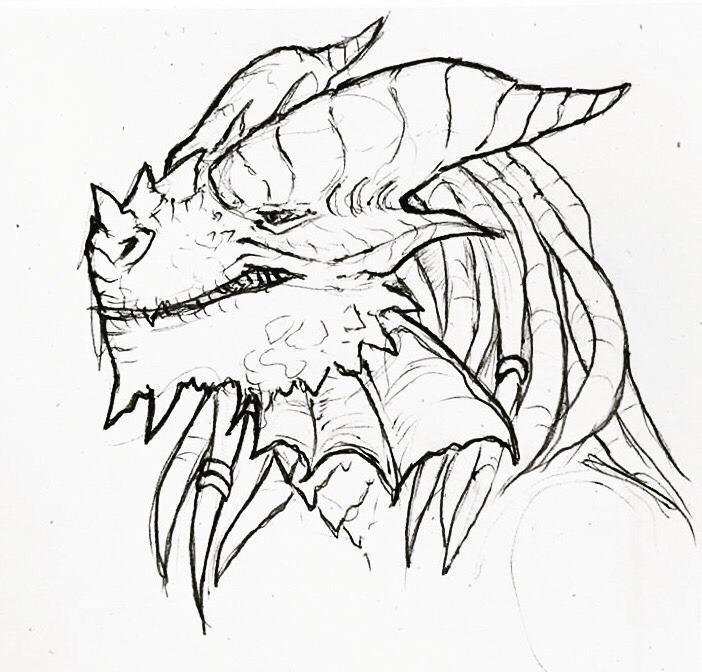 702x672 Art] Quick Sketch Of My Copper Dragonborn Arcane Trickster