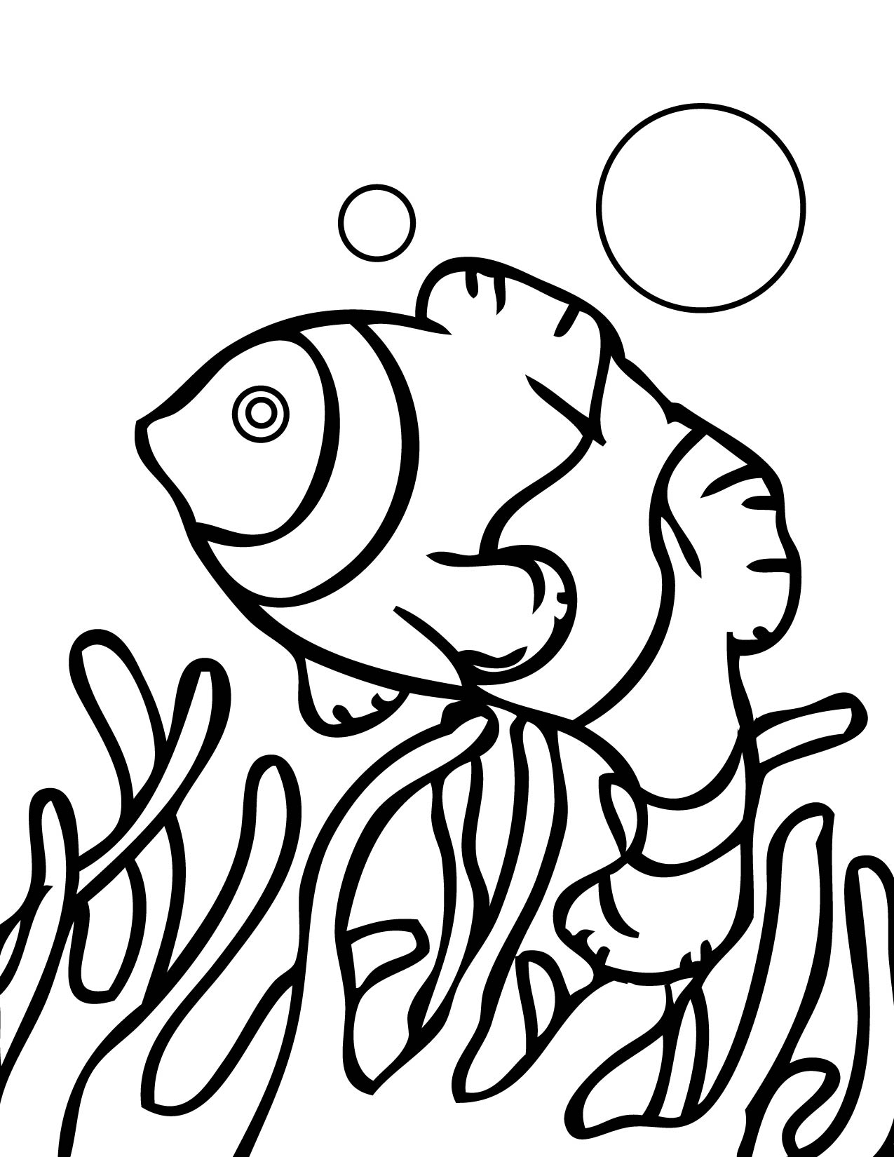 Coral reef fish drawing at free for for Coloring pages of coral reefs