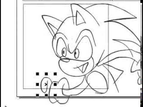 480x360 Desenhando O Sonic No Corel Draw Com Uma Mesa Digitalizadora