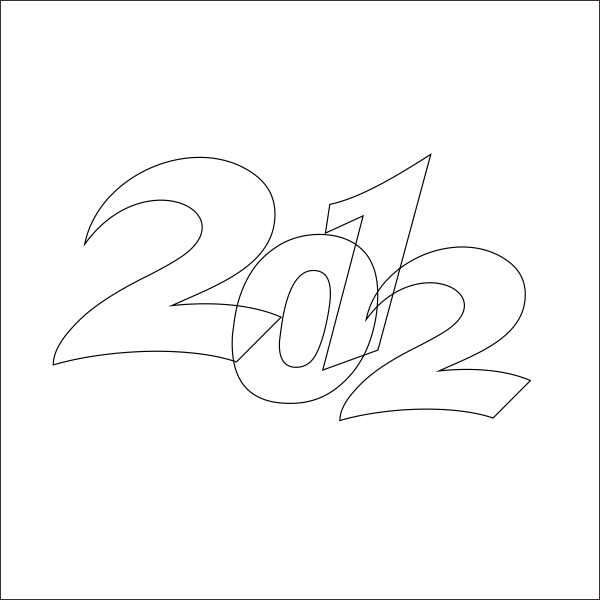 600x600 New Year Wallpaper Design With Coreldraw