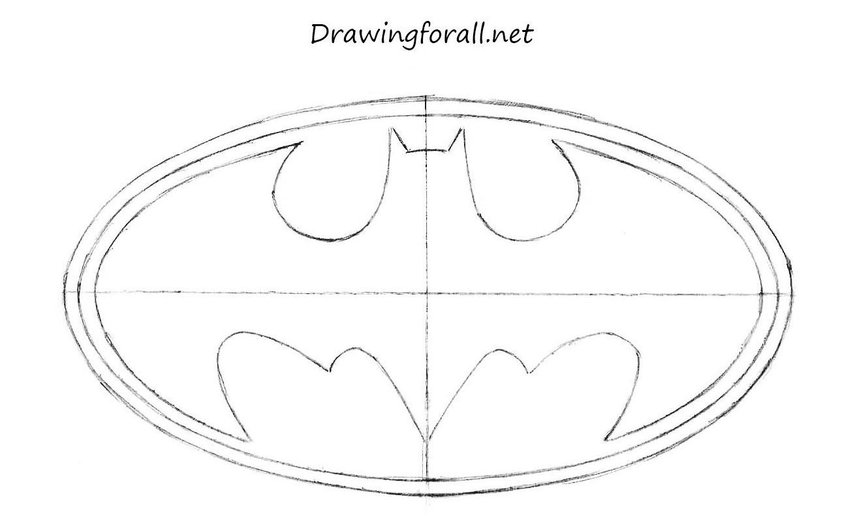 1313x813 Batman Sign Drawing Draw Batman Logo In Coreldraw