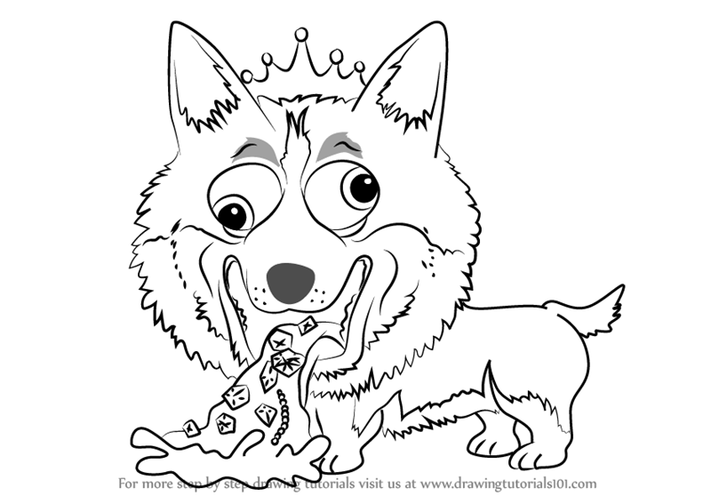 800x567 Learn How To Draw Naughty Corgi From The Ugglys Pet Shop (The