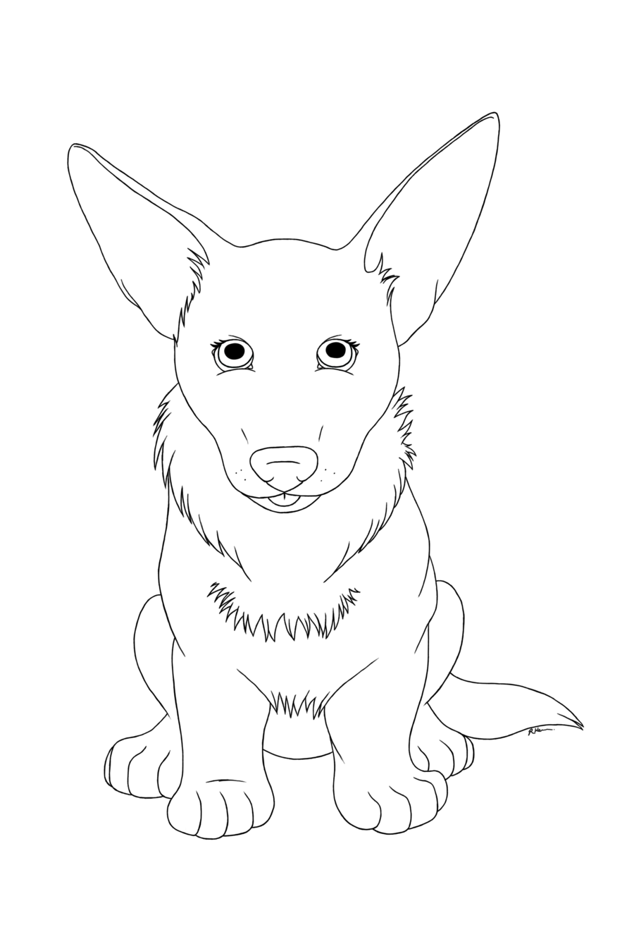 900x1339 Corgi Lineart On Cute Corgi Club