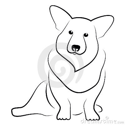 400x400 Corgi Tattoo Outline Tattoo Things Corgi Tattoo