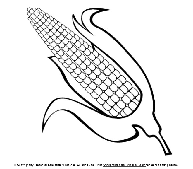 thanksgiving corn coloring pages - photo#18