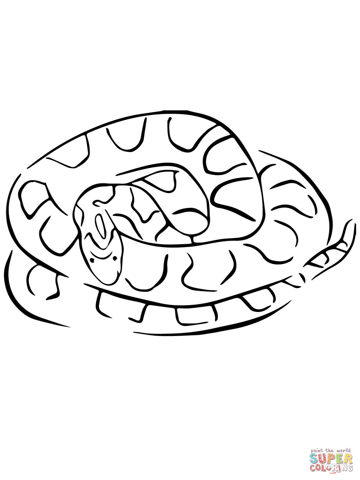 1200x1600 Corn Snake Coloring Page Free Printable Pages