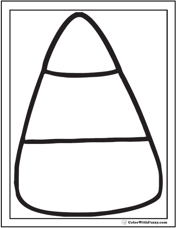 590x762 Candy Corn Coloring Page