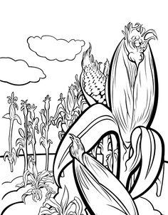 236x302 Cornfield Coloring Page