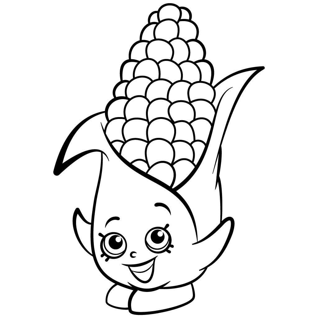 1024x1024 Coloring Pages Corn Coloring Page For Kids