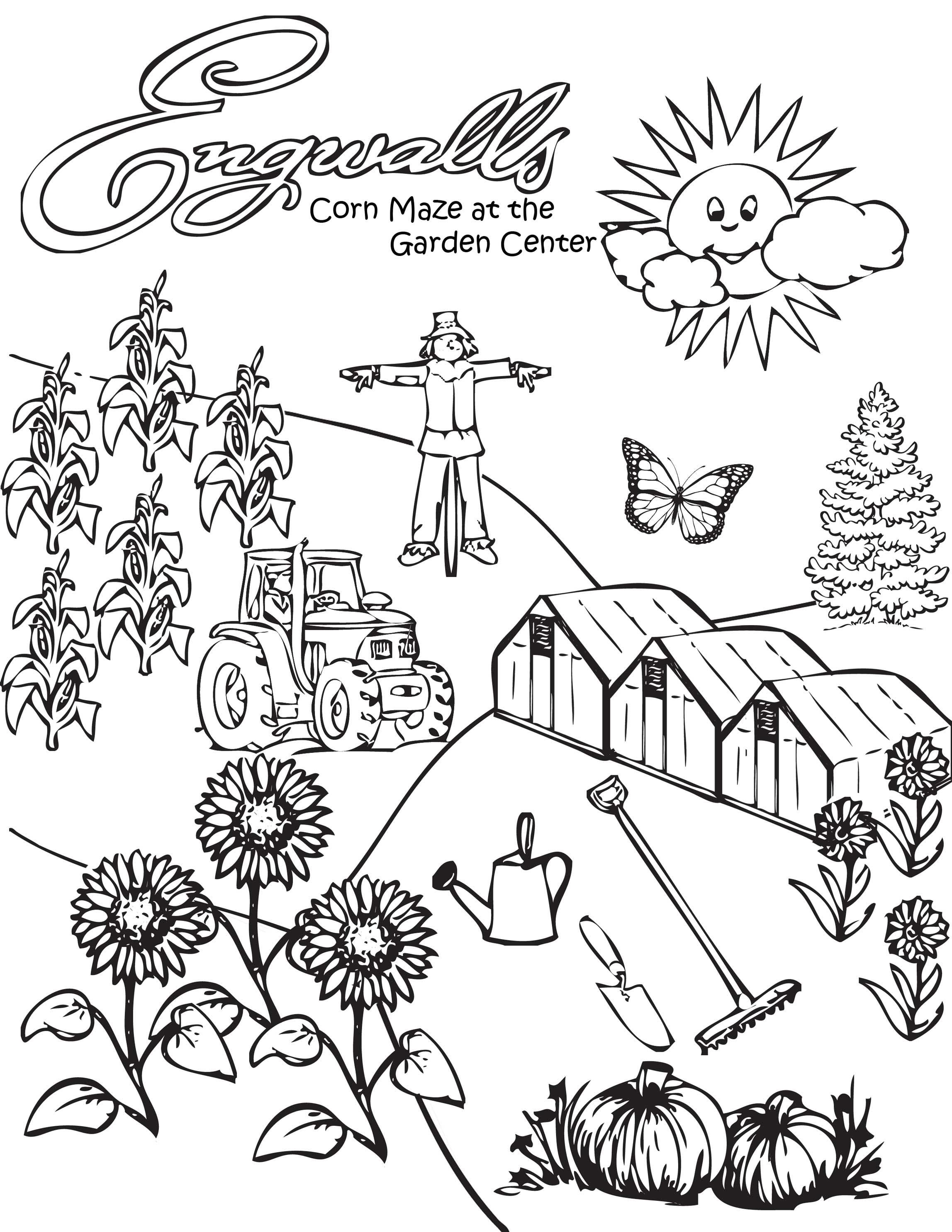 2295x2970 Corn Stalk Coloring Page