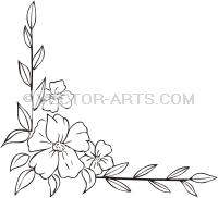 200x182 Clip Art Design (Vinyl Ready) Flower Corner