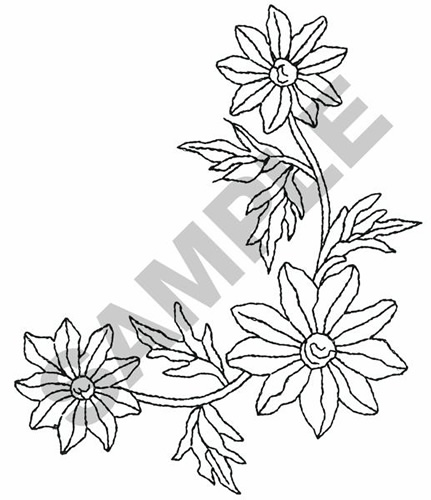 431x500 FLOWER CORNER BORDER Embroidery Design AnnTheGran