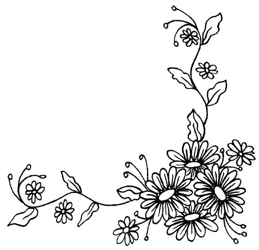 Corner flower drawing at getdrawings free for personal use 534x514 flower border clipart black and white corner border flower border mightylinksfo