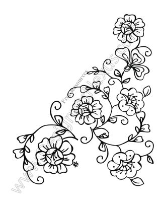 316x409 V13 Free Flower Vectors Floral Corner Border Clip Art