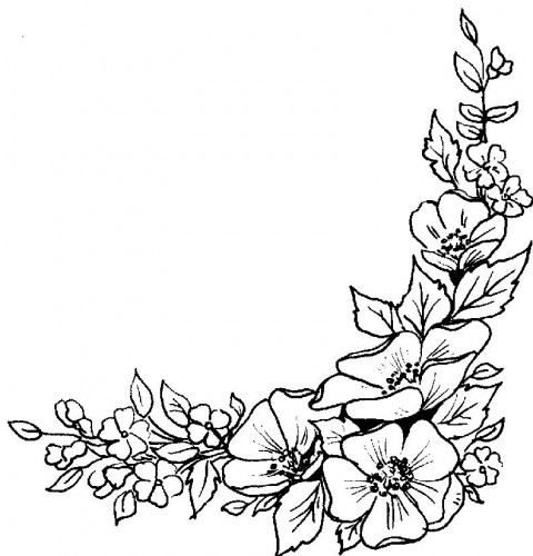 Line Art Flower Corner : Corner flower drawing at getdrawings free for