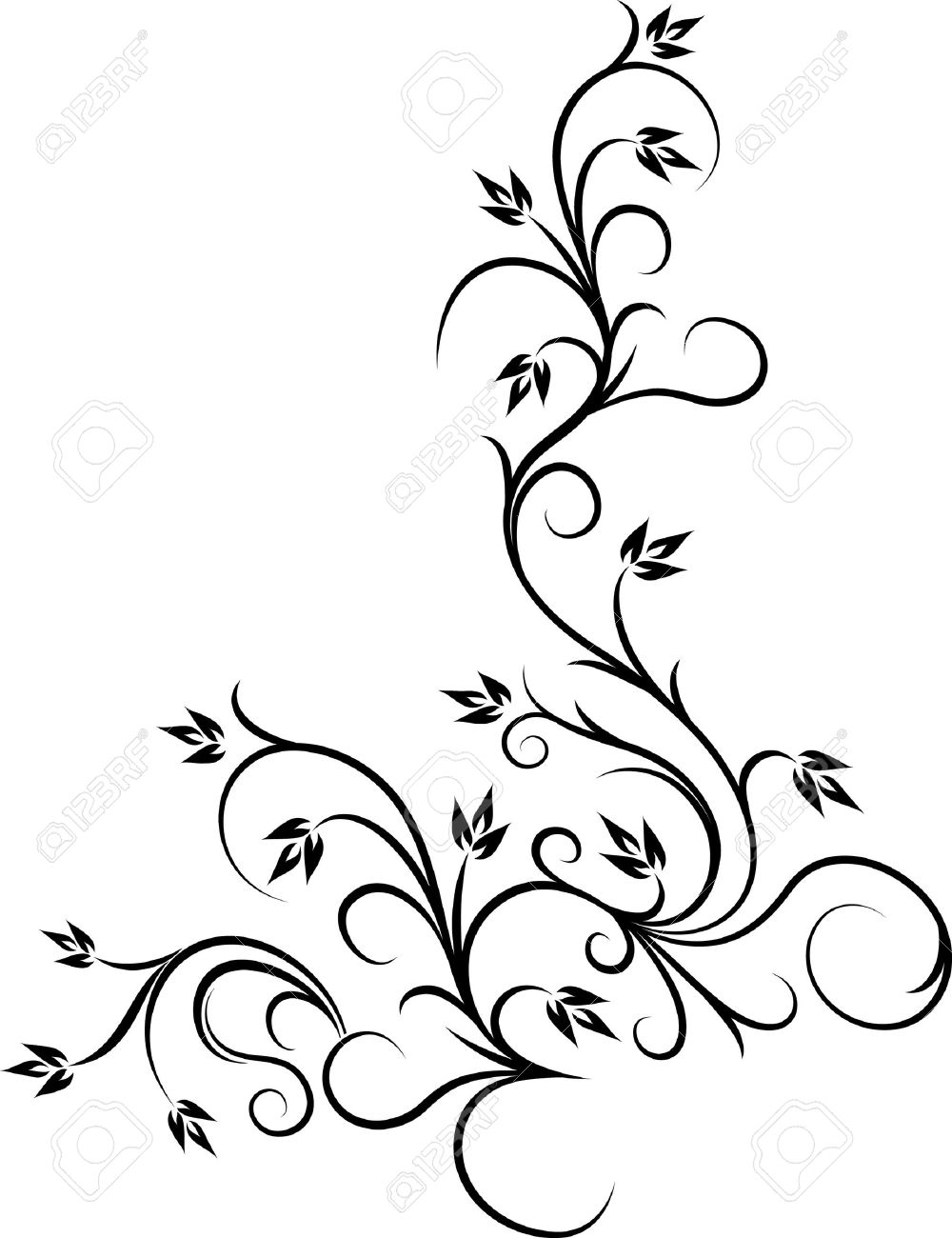 1000x1300 Beautiful Floral Corner Royalty Free Cliparts, Vectors, And Stock