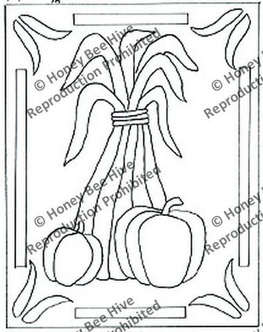 380x480 Honey Bee Hive's Fall Pattern Collection Tagged Cornstalk