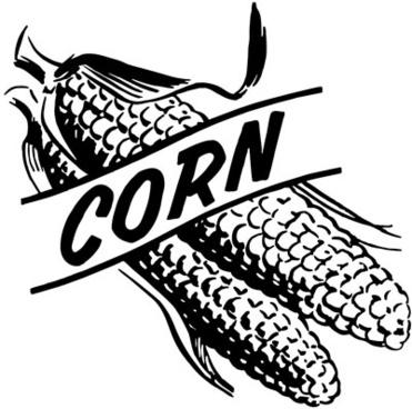 371x368 Corn Stalk Silhouette Clipart Free