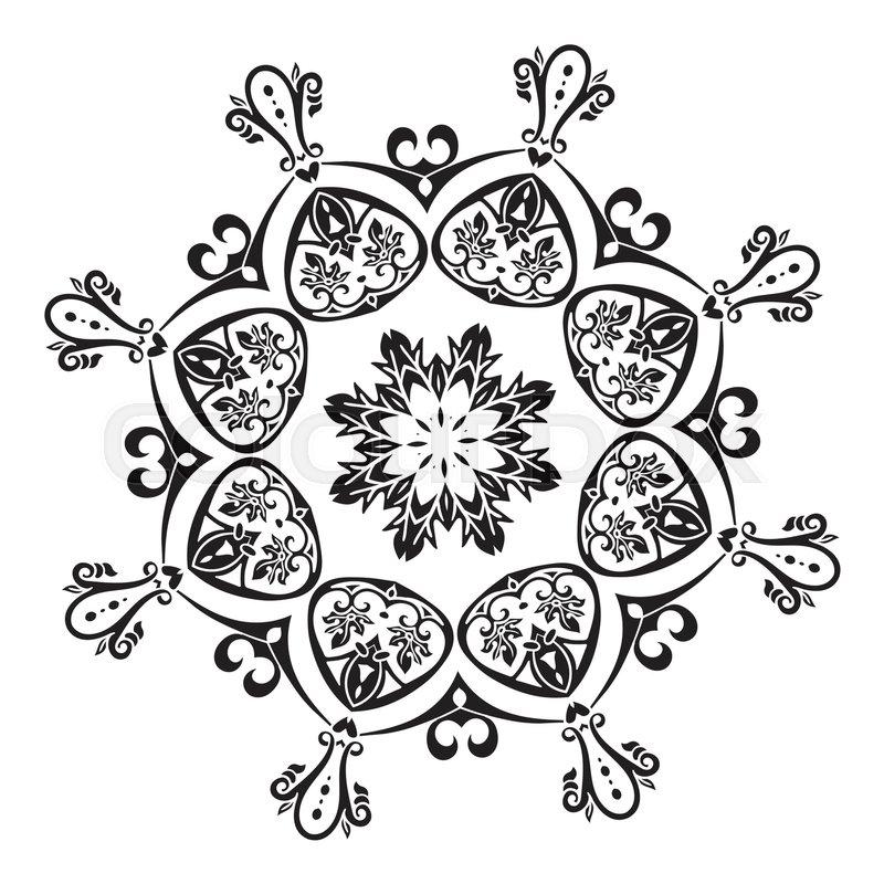 800x800 Hand Drawing Mandala Element Vector Illustration. The Best