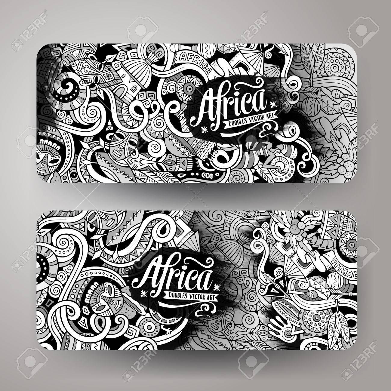 1300x1300 Cartoon Cute Vector Hand Drawn Doodles Africa Corporate Identity