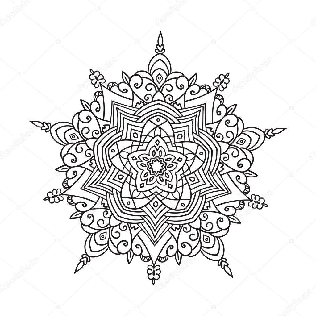 1024x1024 Hand Drawing Zentangle Mandala Element Stock Vector Zzayko