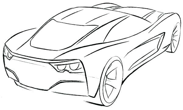 Corvette Drawing At Getdrawings Com