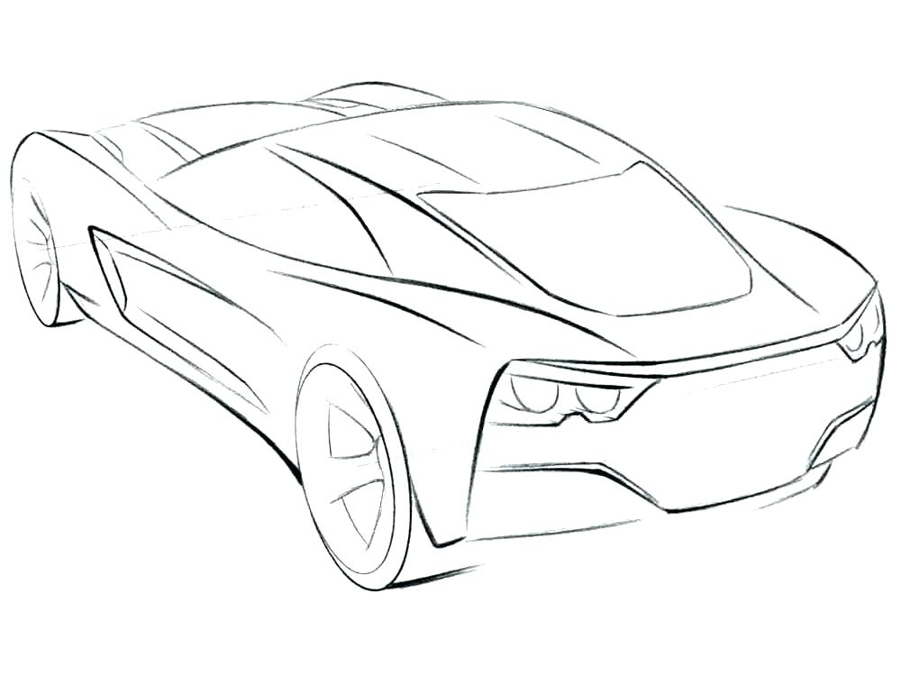 Corvette Drawing at GetDrawings.com | Free for personal use Corvette ...