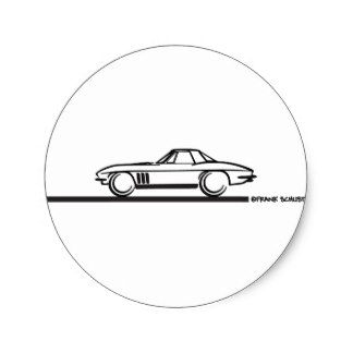 324x324 Corvette Stingray Stickers Zazzle