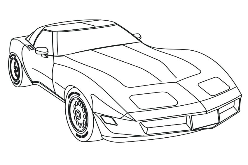 Corvette Stingray Drawing At Getdrawings Com